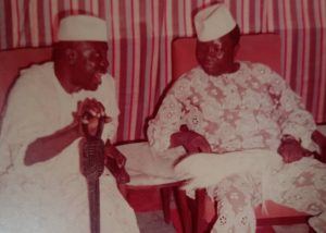 Pa Jakande with his friend Chief T. O. Ogun in 1980
